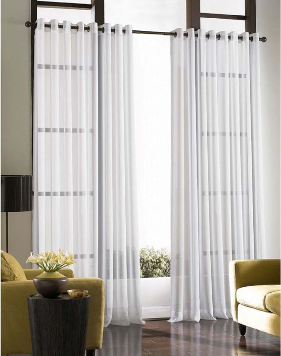 Curtains By Maya Designs Blends Off White Plain Eyelet Door Curtain Part 48