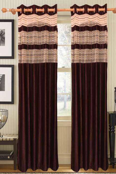 Vrinda Polyester Door Curtain 212 cm (6 ft) Pack of 2