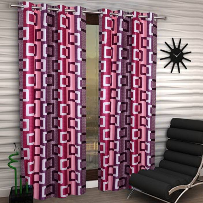 IWS Polyester Door Curtain 212 cm (6 ft) Pack of 2