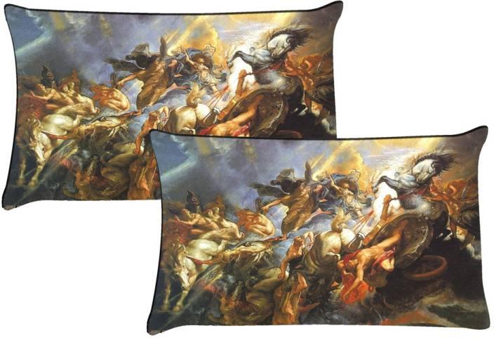 meSleep Self Design Pillows Cover