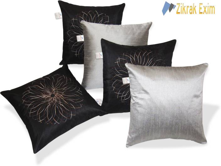 Zikrak Exim Embroidered Cushions Cover