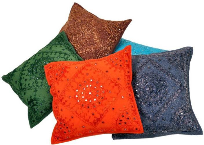 Khatri Handicrafts Embroidered Cushions Cover
