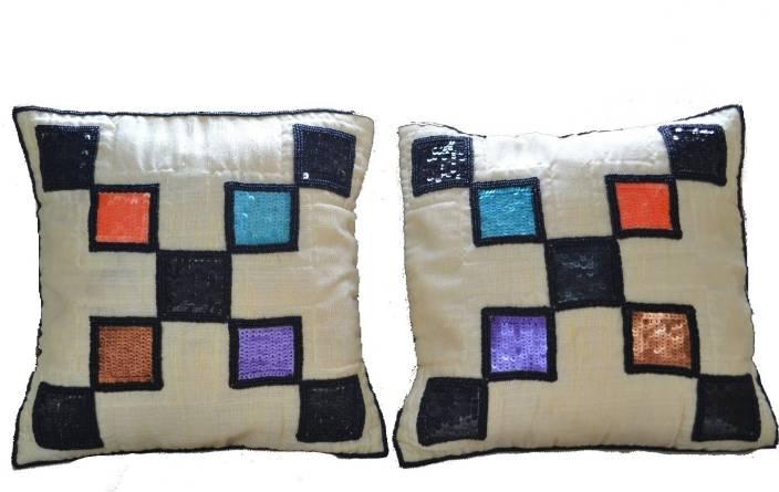 Raun Harman Embroidered Cushions Cover