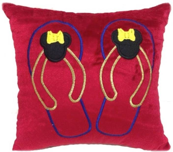 Purple Circle Embroidered Cushions Cover