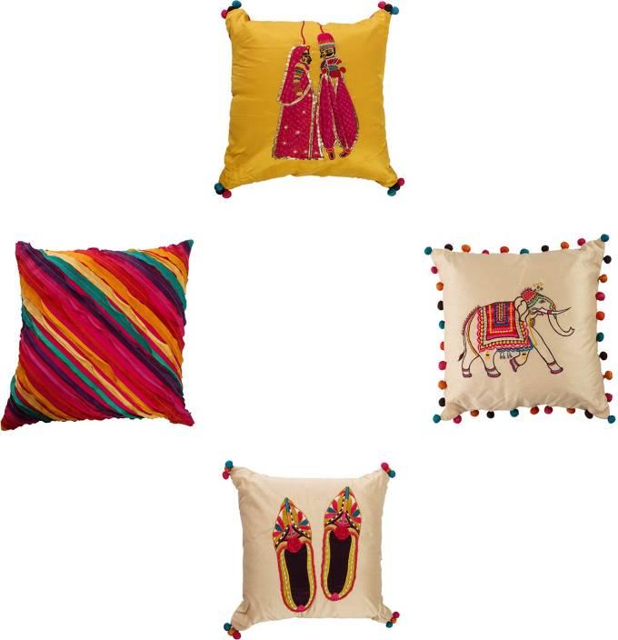 Kairan Jaipur Embroidered Cushions Cover