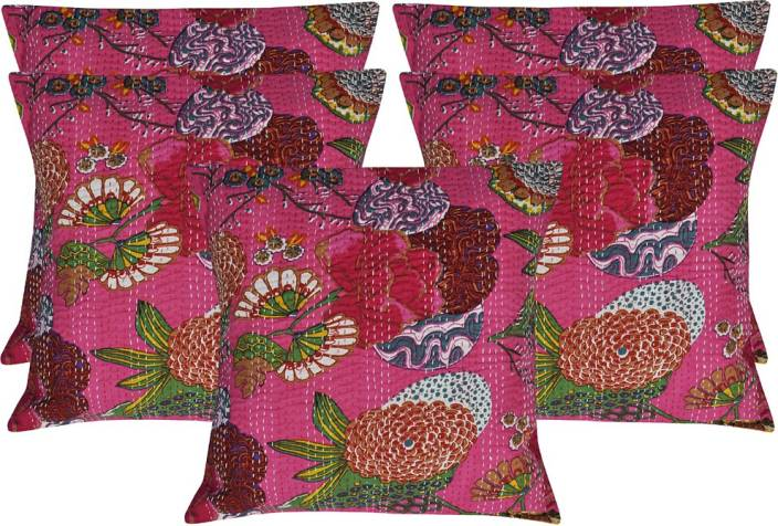 Lal Haveli Floral Cushions Cover