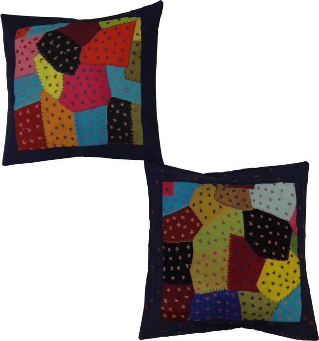 Vintage Krafts Self Design Cushions Cover