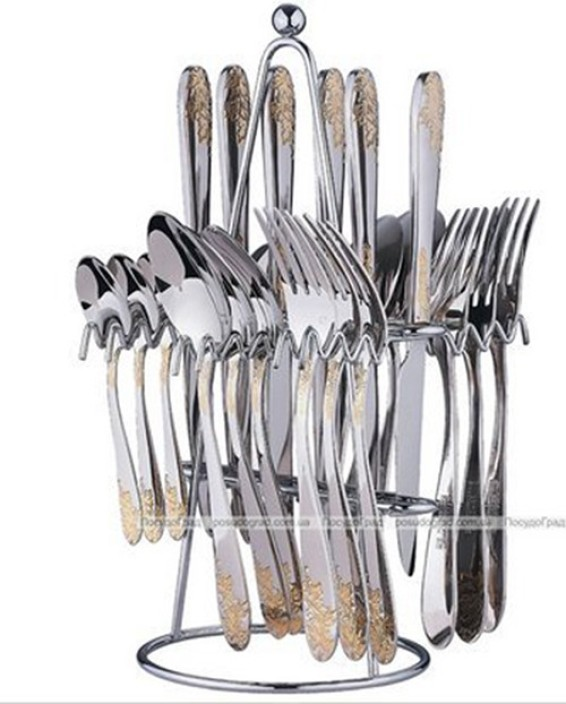 Swiss Republic SH7301/SH7314 Gold Plated Stainless Steel Cutlery Set  sc 1 st  Flipkart : gold plated cutlery set india - pezcame.com