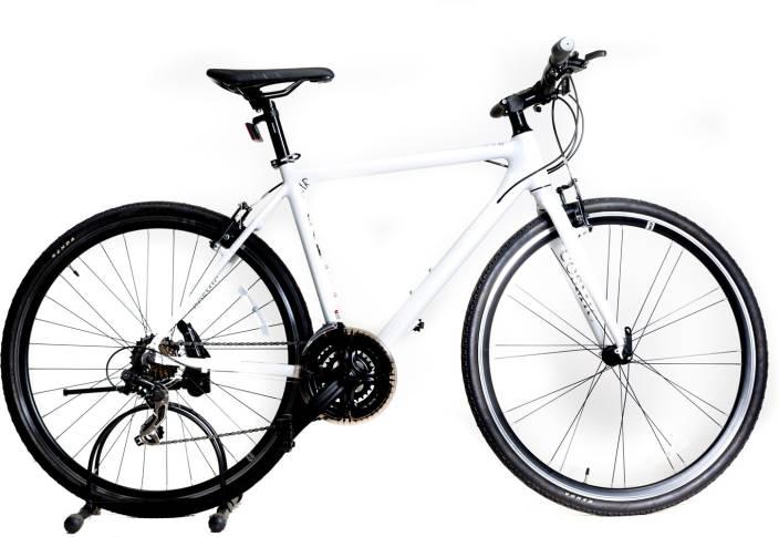 COSMIC Air Hybrid 700c White 28 T Hybrid Cycle/City Bike (21 Gear, White)