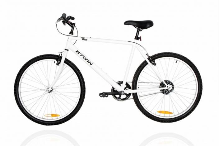 7d0590a170c Btwin by Decathlon My Bike 26 T Hybrid Cycle/City Bike (Single Speed, White)
