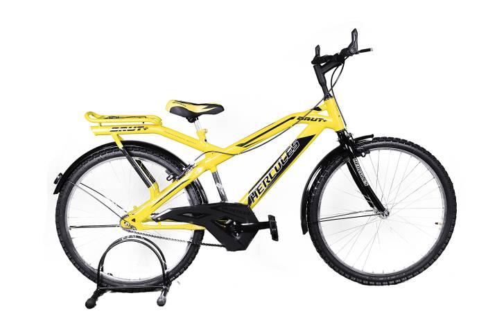 4344b2583e2 HERCULES Brut Plus 26 S/S Yellow 26 T Mountain/Hardtail Cycle (Single  Speed, Yellow)