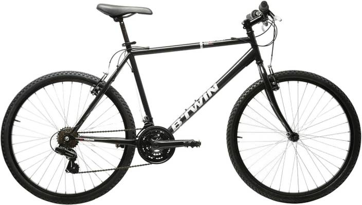 ef36227f05f Btwin by Decathlon VTT Rockrider 300 Men (Large) 24 T Mountain Cycle (24  Gear, Black)
