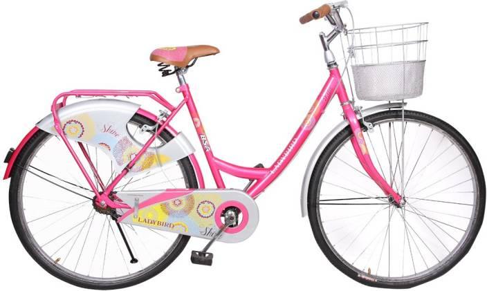 603c56273e7 BSA Lady bird Shine Single Speed 26 T Girls Cycle/Womens Cycle (Single  Speed, Pink)