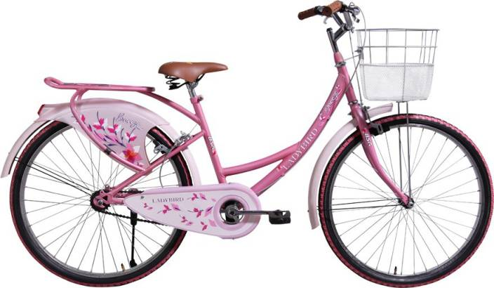9175aa04528 BSA Lady Bird Breeze 26 S/S Pink 26 T Girls Cycle/Womens Cycle (Single  Speed, Pink)