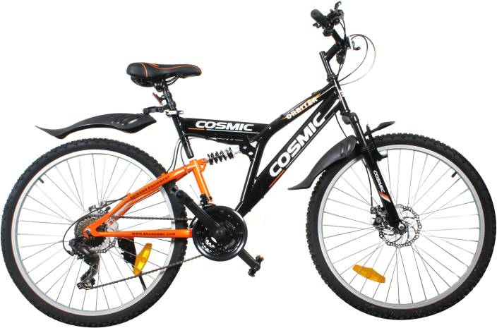 discount 7f33e 4bcea COSMIC ORBITER 21 SPEED MTB BICYCLE BLACK/ORANGE-PREMIUM EDITION 26 T  Mountain Cycle