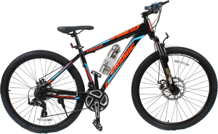 8f5b11197ad COSMIC Trium 27.5 Inch MTB Bicycle 21 Speed-Premium Edition 28 T Mountain/Hardtail  Cycle (21 Gear, Black)