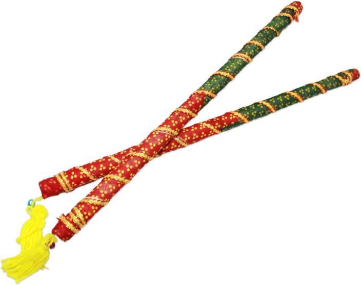 Vedic Vaani Bandhani With Mata Ki Chunri Dandia Sticks