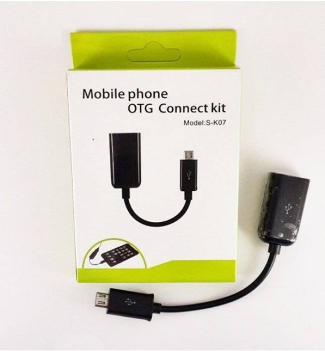 Voltegic ® Mobile Phone Connect Kit OTG Cable (Multicolor)