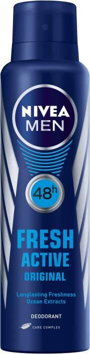 Nivea Men Fresh Active Original Body Spray  -  For Men