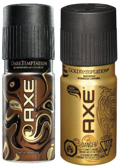 AXE Chocolate Body Spray - For Men & Women (150 ml, Pack of 2)
