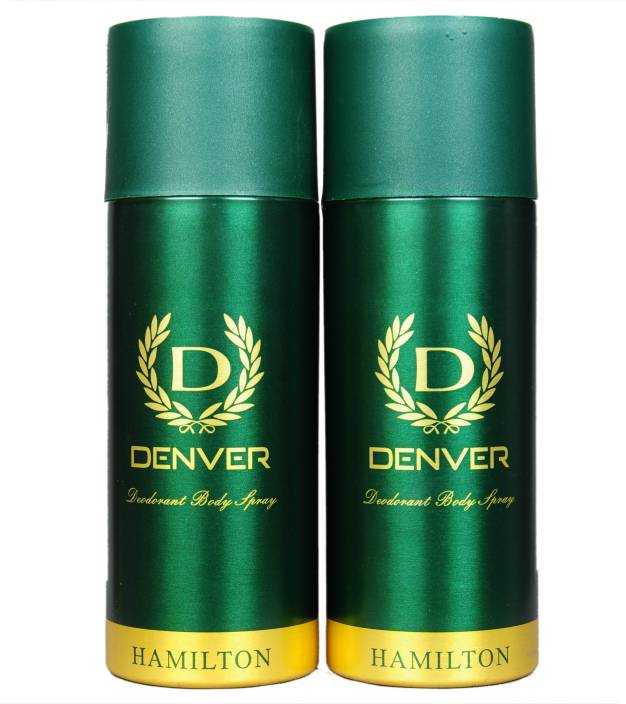 Denver Hamilton Deo Combo (Pack of 2) Deodorant Spray  -  For Men