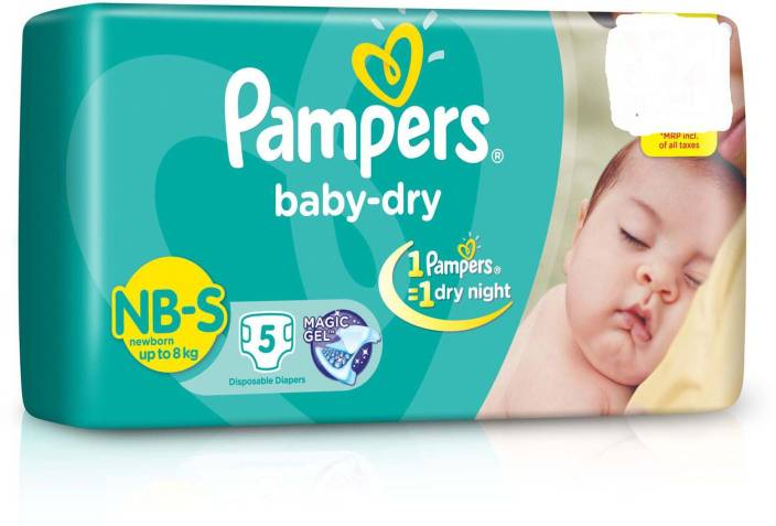 658a1c0a Pampers Baby Dry Diaper Small( Up To 8 Kg) -5( Pack Of -2) - S (5 Pieces)