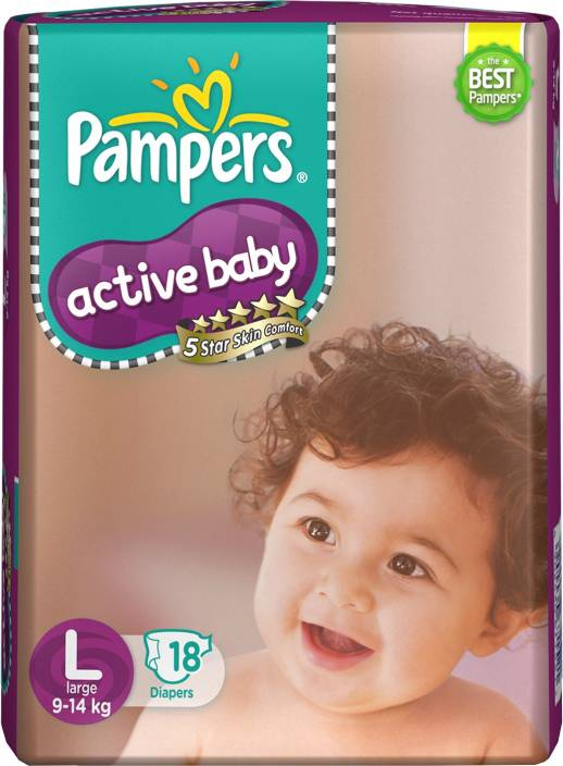 Pampers Active Baby Diapers - L