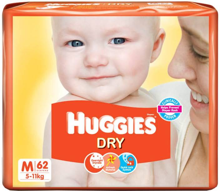 Huggies New Dry Diaper - M