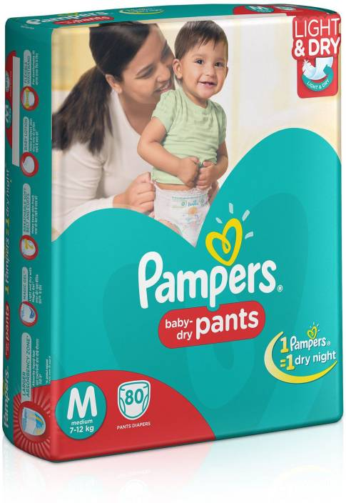 Pampers Pants Diapers Medium Size 80 pc Pack - M