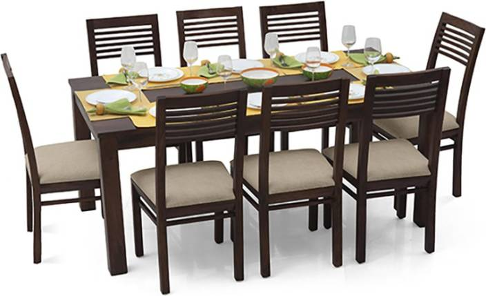 Urban Ladder Arabia XL - Zella Solid Wood 8 Seater Dining Set