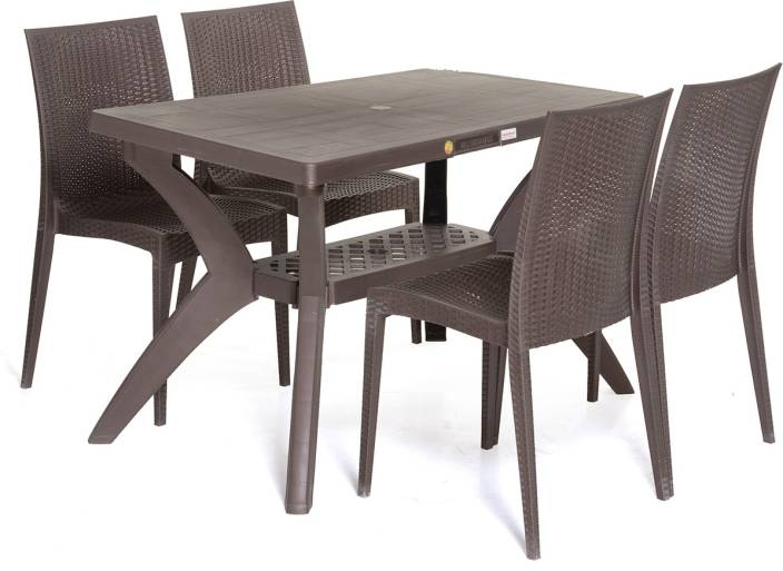 Varmora Dinning Table Set 14 Savor Plastic 4 Seater Dining Set