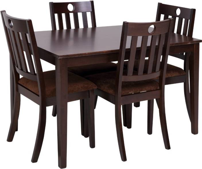 Evok Canton Solid Wood 4 Seater Dining Set Price In India
