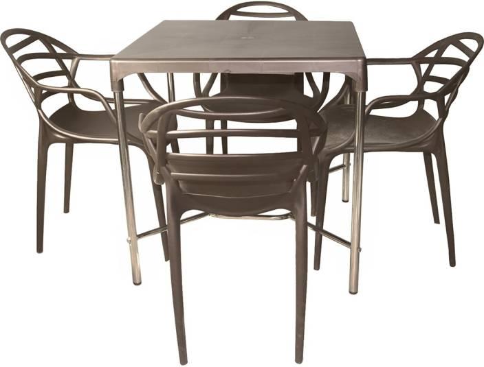 Cello Plastic 4 Seater Dining Set Price in India  Buy Cello Plastic 4 Seater Dining Set online