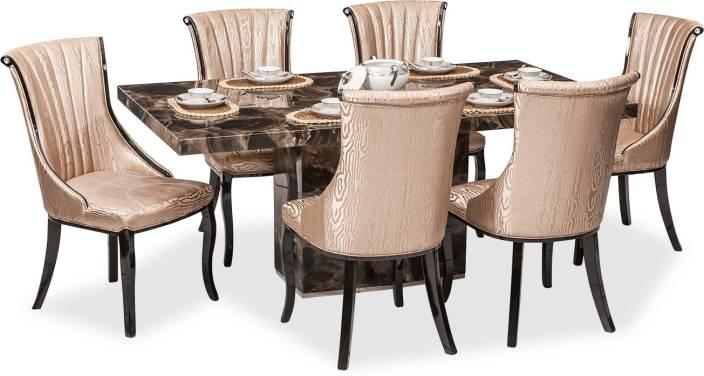 Durian Kara Dining Set Stone 6 Seater Price In