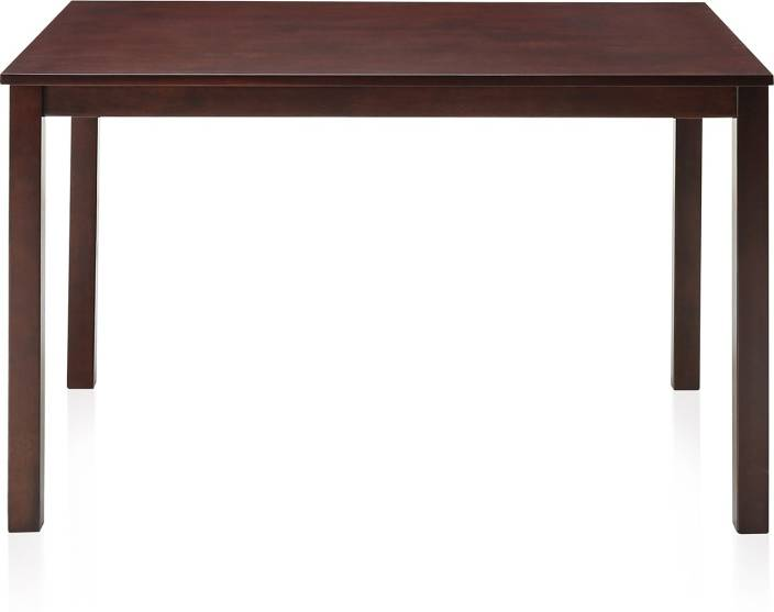 home by Nilkamal Solid Wood 4 Seater Dining Table Price in India