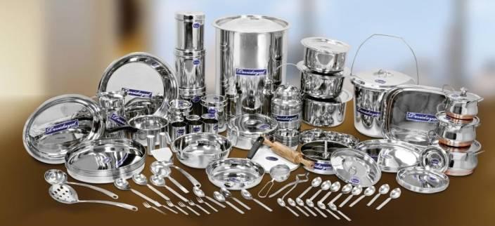 Devidayal Kitchen Set Pack Of 111 Dinner Set Price In India Buy