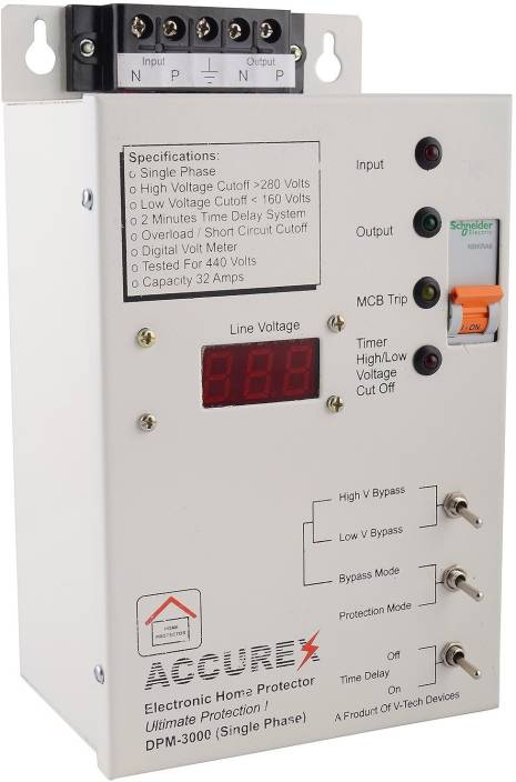 ACCUREX DPM-3000 Home Voltage Protector Distribution Board Price in ...