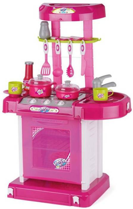 Turban toys battery operated kitchen super set with light for Kitchen set q line