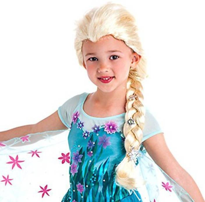 15ac6bca06 Disney Frozen Silver Snowflakes Elsa Wig Exclusive Dress Up Toy (Multicolor)