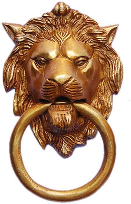 Aakrati Lion Face Brass Door Knocker Price in India - Buy Aakrati ...