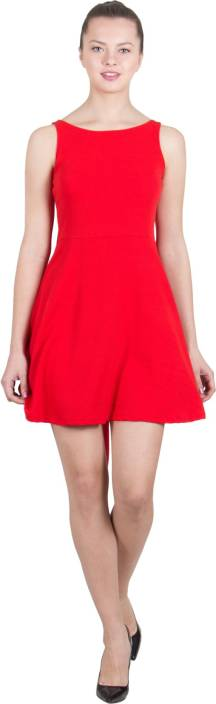 G & M Collections Women's A-line Red Dress