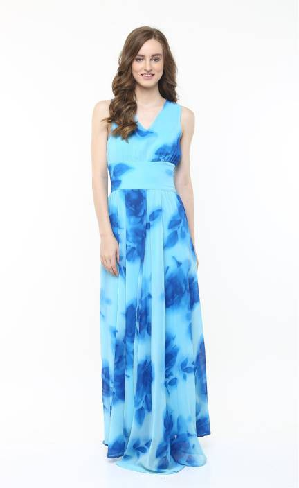 dcc49339dc76 Harpa Women s A-line Light Blue Dress - Buy Light Blue Harpa Women s A-line  Light Blue Dress Online at Best Prices in India
