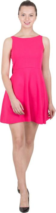 G & M Collections Women's A-line Pink Dress