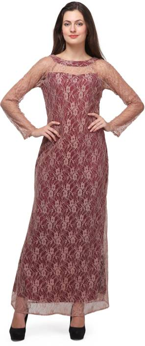 Eavan Women Maxi Maroon Dress