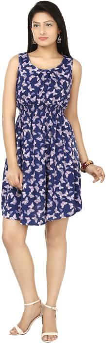 Yogalz Women's Bandage Blue Dress
