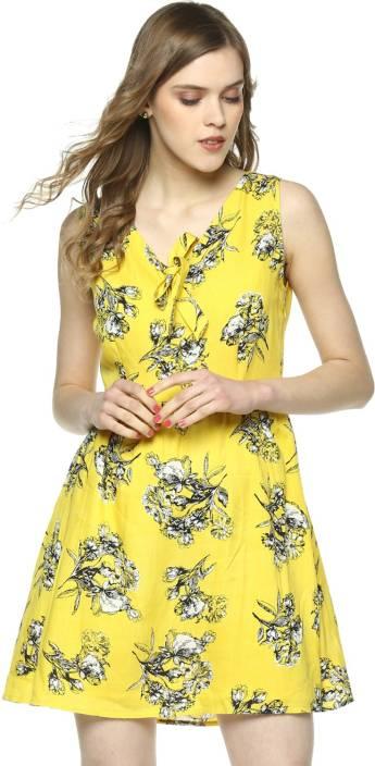 Besiva Women's Sheath Multicolor Dress