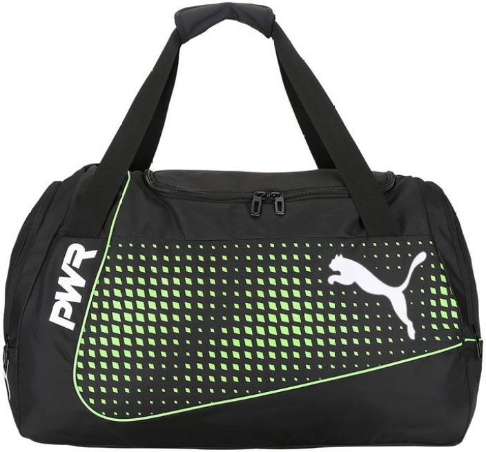 4e432ef1f6 Puma evoPOWER Medium Bag Travel Duffel Bag Puma Black-Green Gecko ...