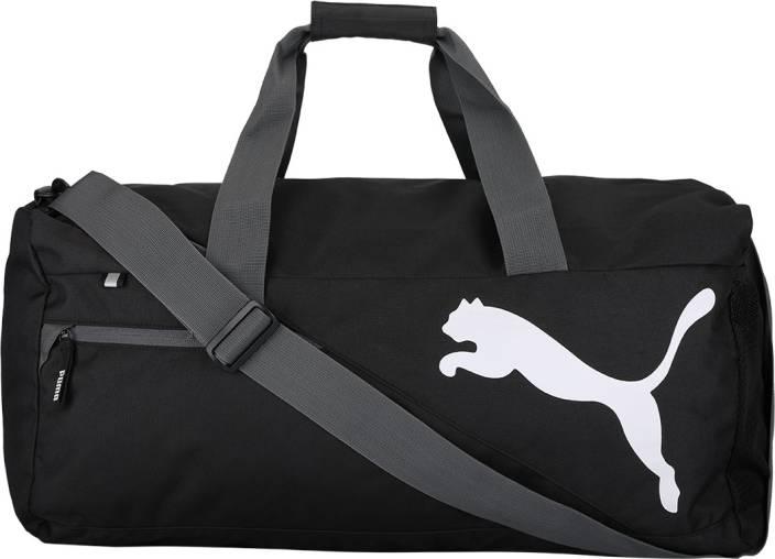 afc7cd3d1d Puma Fundamentals Sports Bag M Gym Bag Black - Price in India ...