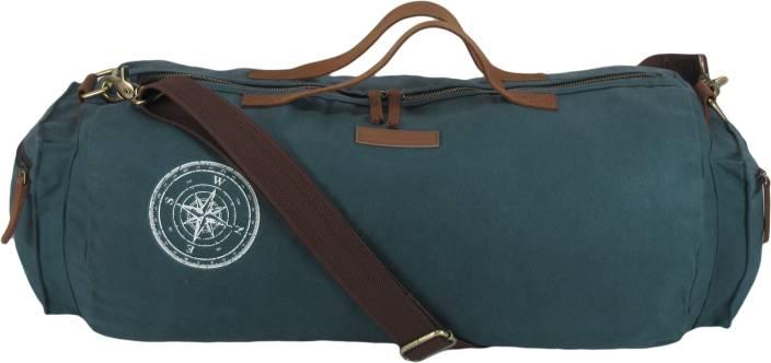 The House of Tara Waxed Canvas Duffle Gym Bag Travel Duffel Bag Blue ... f3dc308846576