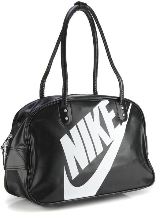 ad45638e2e7 Nike Gym Bag BLACK BLACK WHITE - Price in India   Flipkart.com